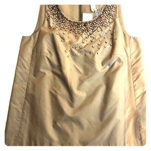 J Crew NWT Silk Tulle Embellished sleeveless SZ 4